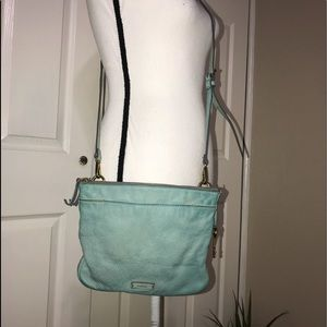 Mint green color fossil crossbody